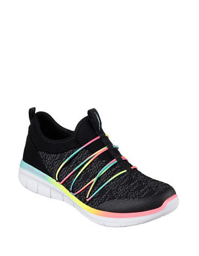 Skechers Synergy 2.0 Simply Chic Bungee Slip-On Sneakers-BLACK MULTI-7.5