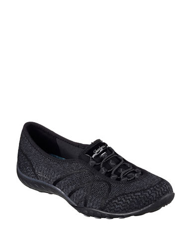 Skechers Breathe Easy Sweet-Jam Slip-on Sneakers-BLACK-11