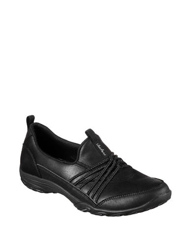 Skechers Empress Lets Be Real Microleather Sneakers-BLACK-9