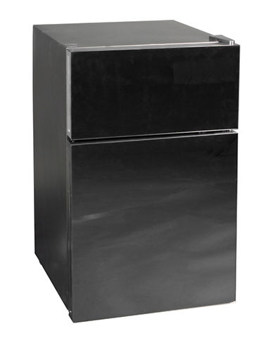 Koolatron Whirlpool 3.1 cu.ft.2 Mirrored Glass Door Refrigerator-BLACK-One Size