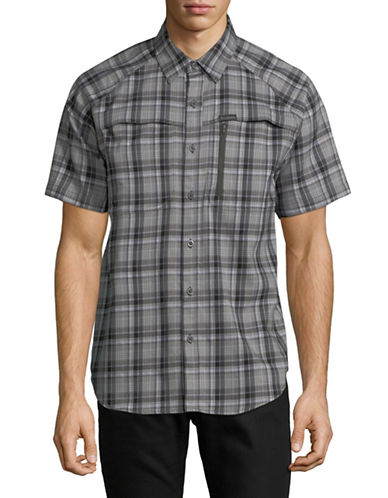 Columbia Franklins Short Sleeve Shirt-GREY-X-Large