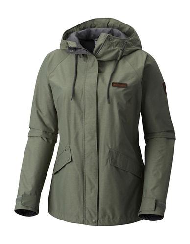 Columbia Celilo Falls Waterproof Jacket-GREEN-X-Small 89842412_GREEN_X-Small