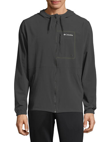 Columbia Outdoor Elements Hooded Jacket-GREY-X-Large