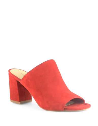 Marc Fisher Dafne Suede Mules-RED-8