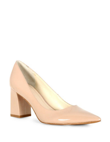 Marc Fisher Ltd Zala Leather Block Heels-ROSE-9