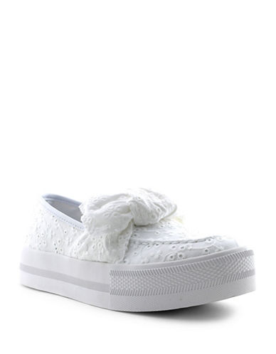 G By Guess Chippy Slip-On Sneakers-WHITE-8