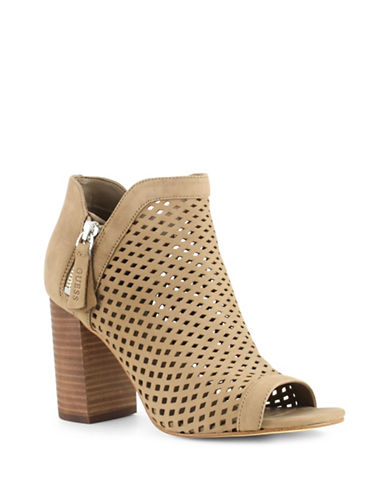 Guess Oana Suede Cut-Out Sandals-TAUPE-10