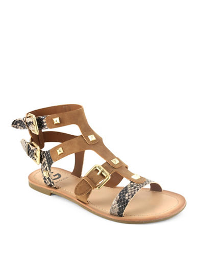 G By Guess Hixtin Sandals-HONEY-7