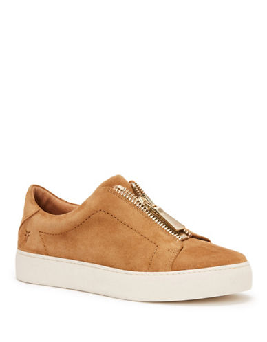 Frye Lena Leather Low Top Sneakers-TAN-7.5