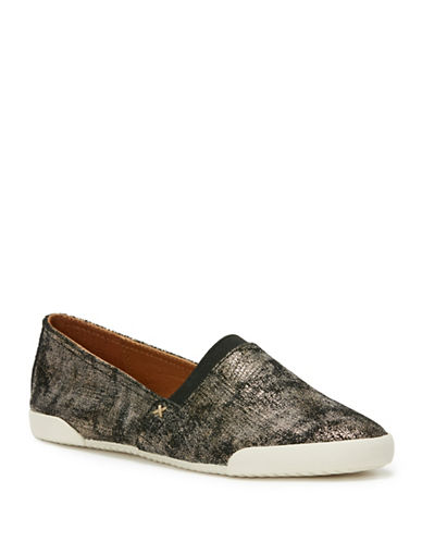 Frye Melanie Leather Slip-On Sneakers-GUNMETAL-8