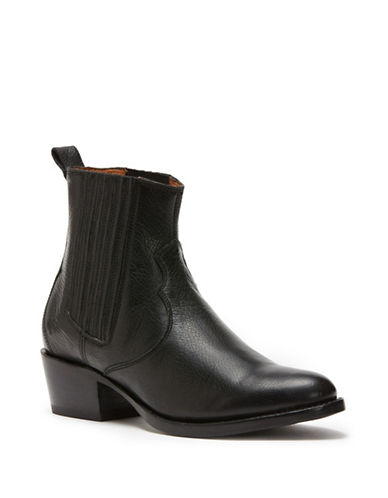 Frye Diana Leather Chelsea Boots-BLACK-9