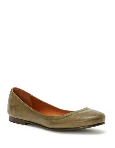 Frye Carson Leather Ballet Flats-SAGE-7