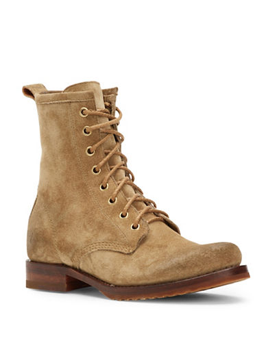 Frye Veronica Leather Combat Boots-SAND-5.5