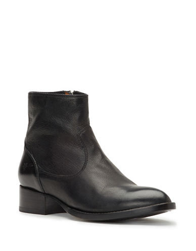 Frye Brooke Zip Leather Boots-BLACK-7