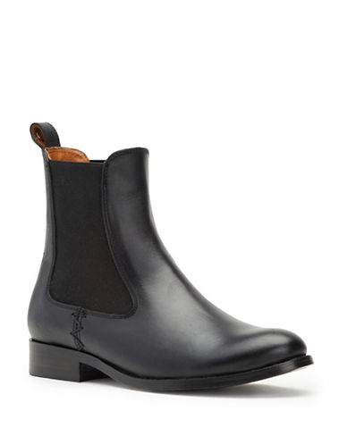 Frye Melissa Leather Chelsea Boots-BLACK-5.5