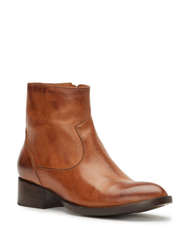 Frye Brooke Zip Leather Boots-COGNAC-7