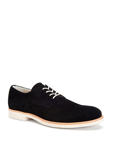 Calvin Klein Faustino Oily Leather Oxfords-BLACK-9