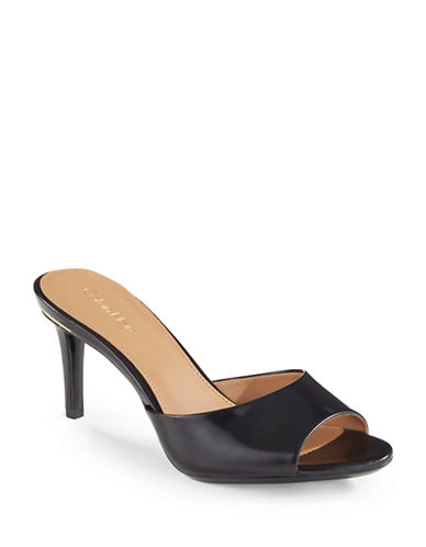Calvin Klein Luc Leather Dress Sandals-BLACK-5.5
