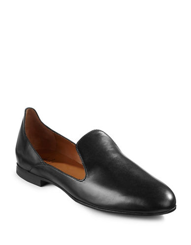 Aquatalia Emmaline Leather Flats-BLACK-7