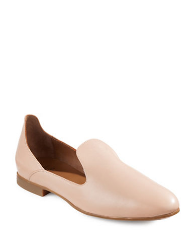 Aquatalia Emmaline Leather Flats-NUDE-7