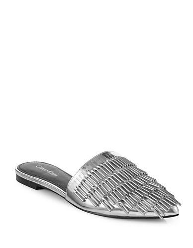 Calvin Klein Addie Beaded Slip-Ons-SILVER-7
