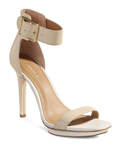 Calvin Klein Vable Leather Ankle Strap Sandals-BEIGE-11