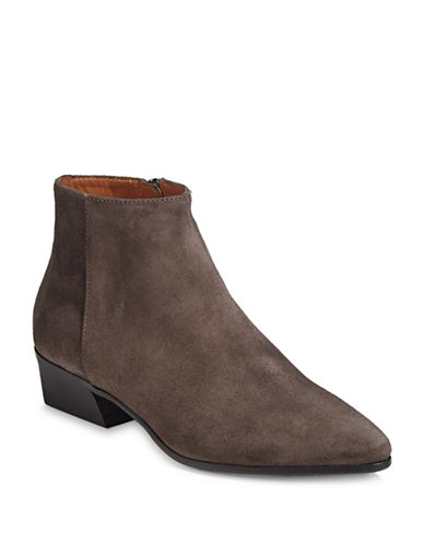 Aquatalia Fire Suede Dress Ankle Boots-ANTHRACITE-5