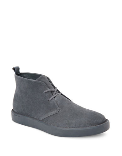 Calvin Klein Galway Leather Chukka Boots-GREY-9.5