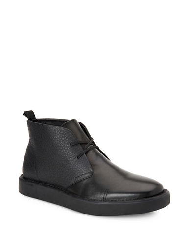 Calvin Klein Galway Nappa Smooth Calf Leather Chukka Boots-BLACK-7.5