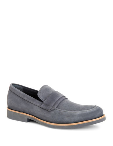 Calvin Klein Forbes Suede Loafers-GREY-9.5