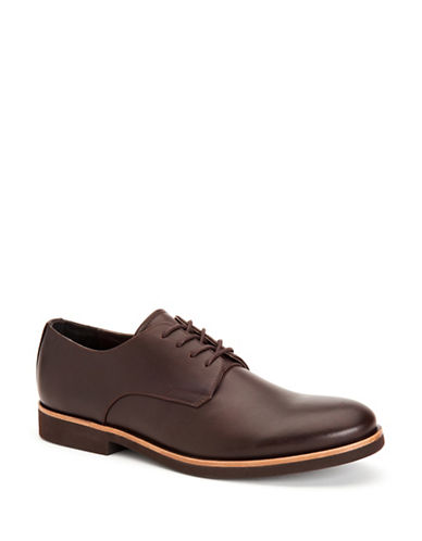 Calvin Klein Faustino Smooth Oxfords-DARK BROWN-11.5