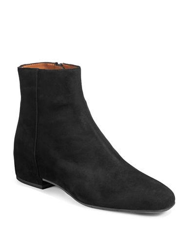 Aquatalia Ulyssaa Suede Ankle Boots-BLACK-EUR 38.5/US 8.5
