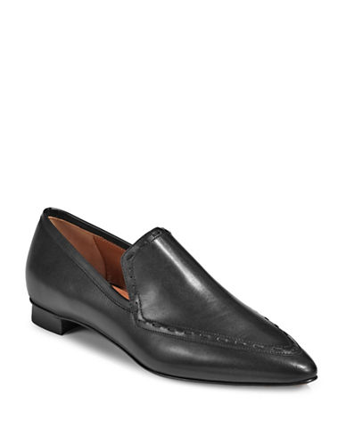 Aquatalia Piera Leather Loafers-BLACK-5