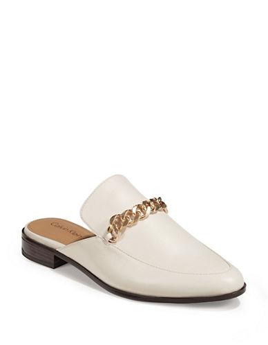 Calvin Klein Frieda Chain Mules-WHITE-6.5