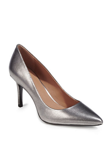 Calvin Klein Gayle Point Metallic Heels-GREY-9
