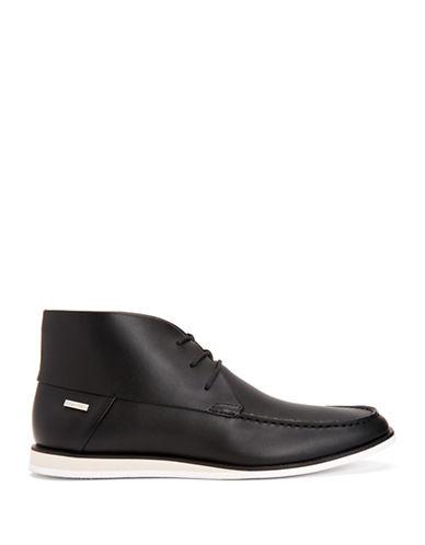 Calvin Klein Kenley Brushed Sneaker Boots-BLACK-10