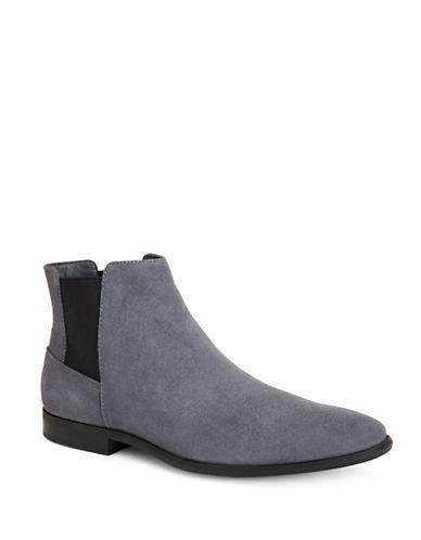 Calvin Klein Larry Suede Chelsea Boots-GREY-11.5