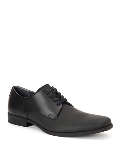 Calvin Klein Jasper Leather Dress Shoes-BLACK-9.5