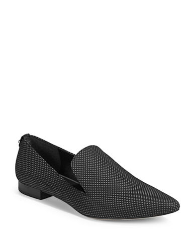 Calvin Klein Polka Dot Loafers-GREY-6