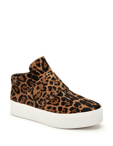 Calvin Klein Jessamine Leopard Flatform Sneakers-NATURAL-10