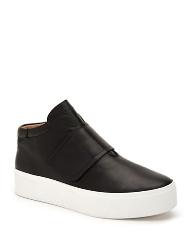 Calvin Klein Jessamine Flatform Sneakers-BLACK-9.5