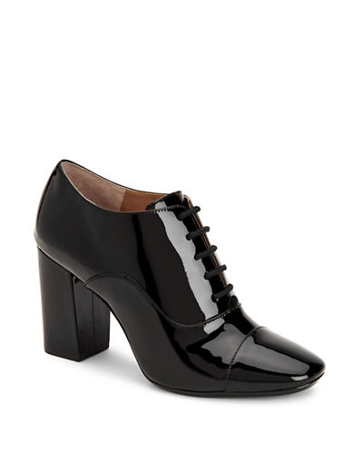 Calvin Klein Cailey Patent Leather Oxfords-BLACK-7