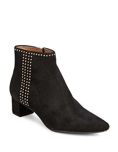 Calvin Klein Graziana Suede Booties-BLACK-7.5