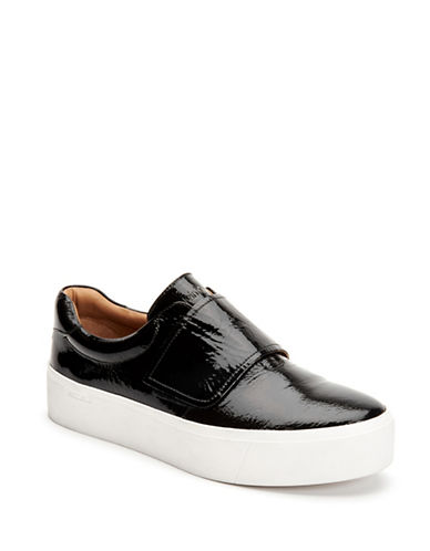 Calvin Klein Jaiden Leather Platform Sneakers-BLACK-9.5