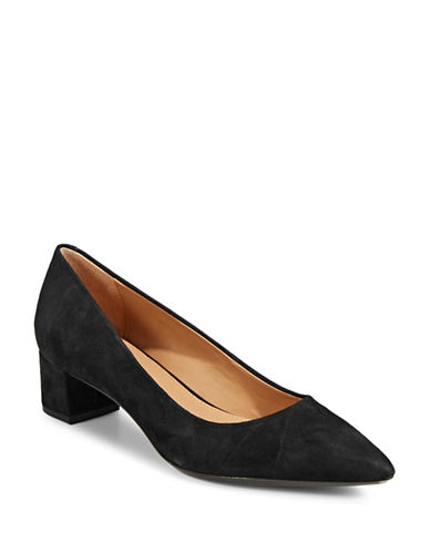 Calvin Klein Genoveva Leather Pumps-BLACK-9