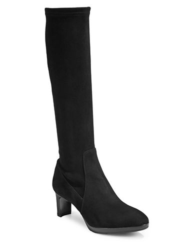 Aquatalia Knee-High Leather Boots-BLACK-6.5