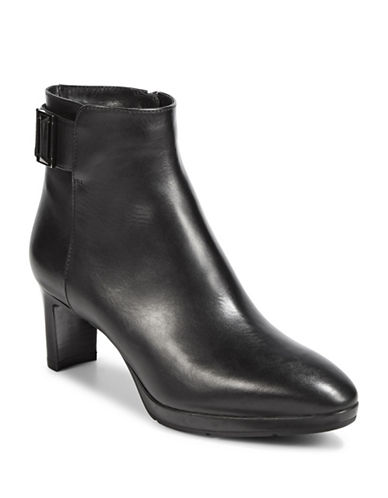 Aquatalia Daniella Leather Booties-BLACK-8.5