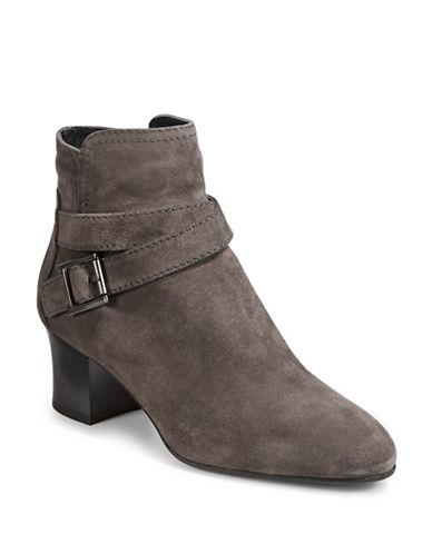 Aquatalia Francique Buckle Ankle Boots-GREY-EUR 38/US 8
