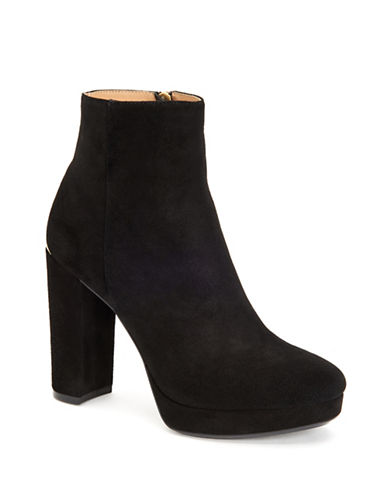 Calvin Klein Martha Leather Booties-BLACK-10