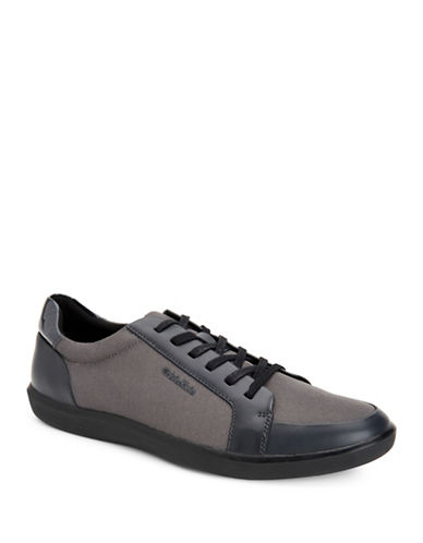 Calvin Klein Macabee Brushed Sneakers-DARK GREY-10.5